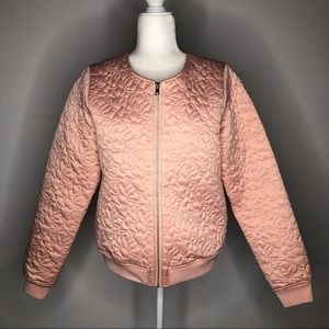 Guess Los Angeles blush pink quilted jacket